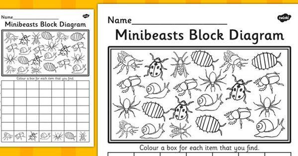 minibeasts block diagram activity sheet minibeasts. Black Bedroom Furniture Sets. Home Design Ideas