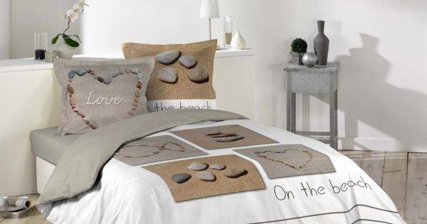 housse de couette 240 x 220 cm taies galets plage neuf par tout pour votre maison dans la. Black Bedroom Furniture Sets. Home Design Ideas
