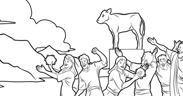 golden calf coloring page - angry at moses golden calf coloring pages
