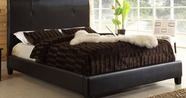 Miranda Upholstered Platform Bed Upholstered Platform Bed Queen Size Platform Bed Leather Platform Bed