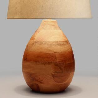Wood Teardrop Table Lamp Base Wood Lamp Base Table Lamp Base Table Lamp Wood