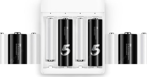 Only 10 23 Buy Xiaomi Zmi Zi5 Zi7 Aa Aaa Ni Mh Usb Battery Charger At Gearbest Store With Free Battery Usb Charger Portable Battery Charger Battery Charger