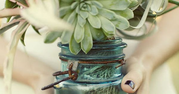 succulents are perfect to use as wedding table arrangements and bouquets- and