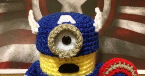 Minion Captain America Amigurumi : Captain America Minion Crochet Amigurumi Patch & Stitch ...