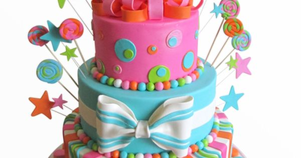 Bright birthday cake