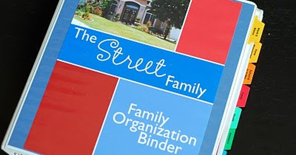 The Inspired Organizer: Family Organization Binder (free printables