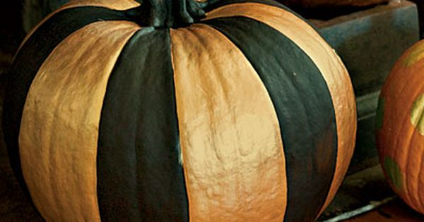 Easy painted Pumpkin decorating idea