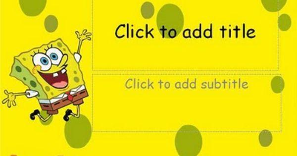 Spongebob Squarepants Powerpoint Templates Power Points Spongebob Lucu