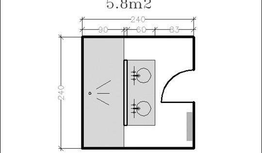 18 plans de salle de bains de 5 11 m d couvrez nos for Feng shui salle de bain sans fenetre