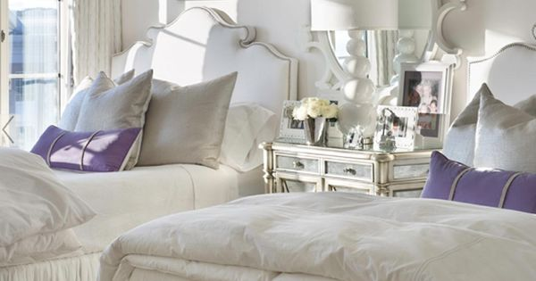 Bedding, headboard, mirror, lighting, etc. Love this for a guest bedroom!