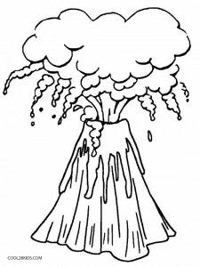 Printable Volcano Coloring Pages For Kids Cool2bkids Coloring Pages Printable Coloring Pages Coloring Pages To Print