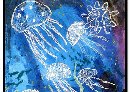 Use A White Crayon To Draw Sea Creatures Then Use Water