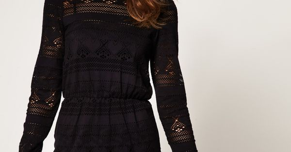 crochet tunic dress ::lil black day dress::