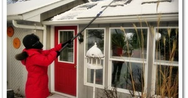 Our Little Acre Got Snow Ames True Temper Telescoping Roof Rake To The Rescue Roof Skylight Roof Temper