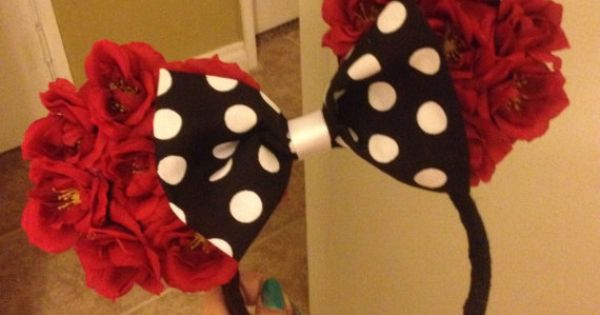 Minnie Mouse inspired floral Mickey Ears by Mousehouseboutique
