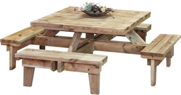 Vierkante Picknicktafel 230 Cm Normal Picnic Table Bench Picnic Table Plans Picnic Table