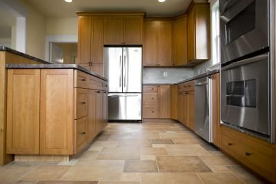 How To Replace Kitchen Tiles Without Removing Cabinets Maple Kitchen Cabinets Best Flooring For Kitchen Kitchen Flooring