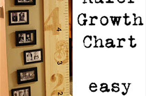 Ruler growth chart with photos. Great idea.