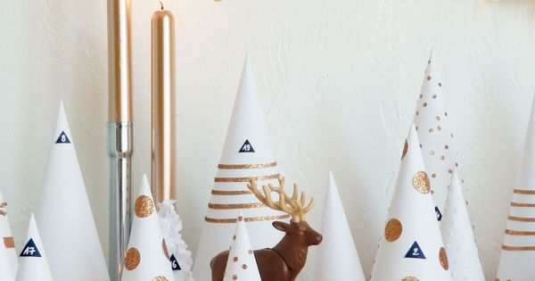 Diy la for t enchant e de l 39 avent advent calendar for Decoration foret enchantee