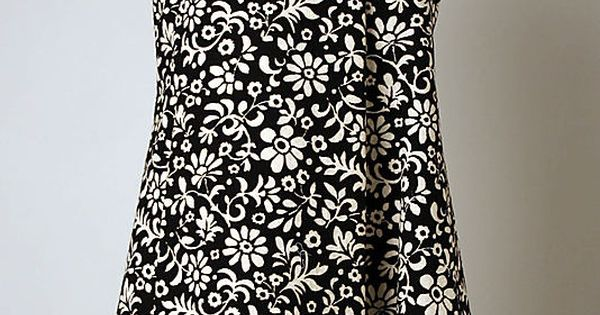 Geoffrey Beene cotton dress 1963-69 - very popular style copied by many
