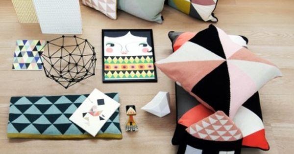 Geometric cushions.