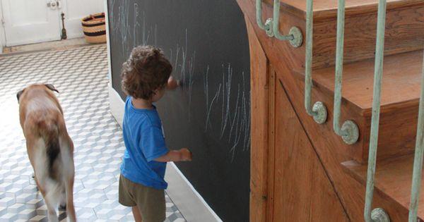 Entr e tableau ardoise couloir decoration - Peindre son couloir ...