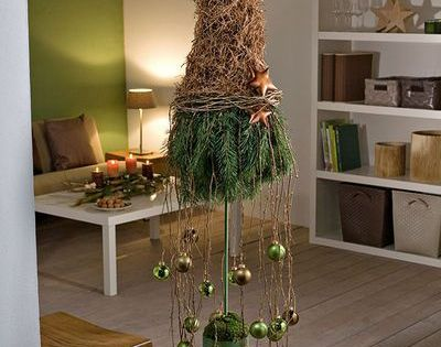 advent im naturlook dekorieren mit zapfen und zweigen weihnachten pinterest z pfchen. Black Bedroom Furniture Sets. Home Design Ideas