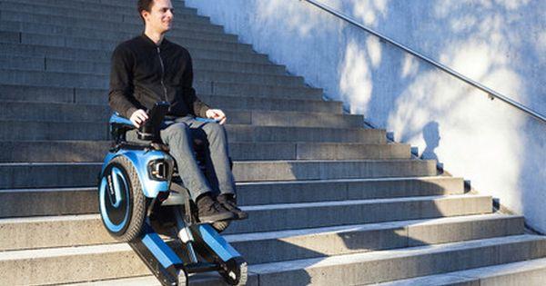 This Amazing Self Balancing Wheelchair Can Climb A Flight Of Stairs Wheelchair Stair Climbing Climbing