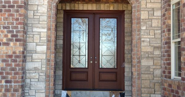 Pre Finished Double French Masonite Door With Quattro