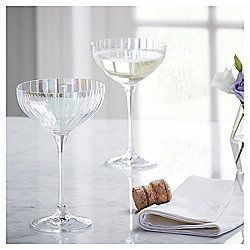 Fox Ivy Jardin Pack Of 4 Champagne Coupe Glasses Champagne Coupe Glasses Tableware Champagne Coupes