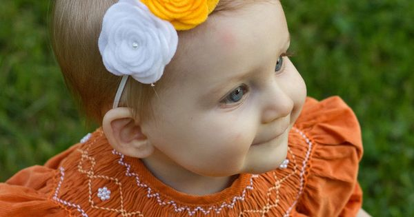 Burnt orange baby dress
