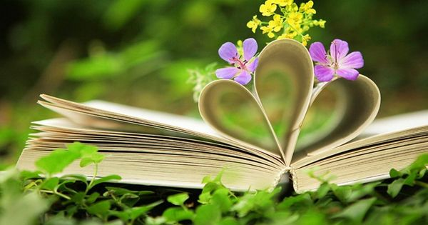 Image result for book with flowers
