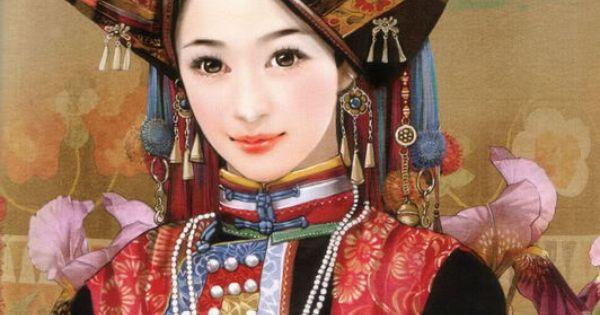 台灣插畫家畫的56個民族人物手繪【超美,56张全】Hand painted illustrations of 56 ethnic groups from China. The artist Chen