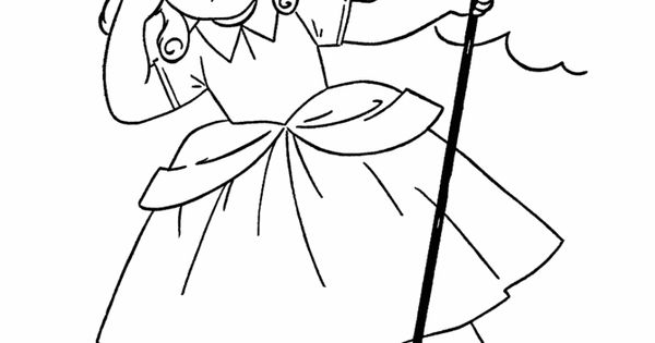 Nursery rhymes quiz coloring page hand embroidery for Little bo peep coloring pages