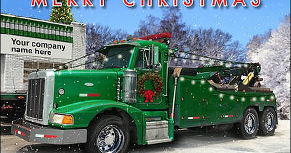 Towing Truck Christmas Cards Customized For Your Business Tow Truck Best Family Cars Business Holiday Cards