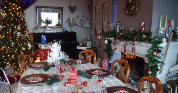Table de noel traditionnelle traditional table of for Table de noel traditionnelle
