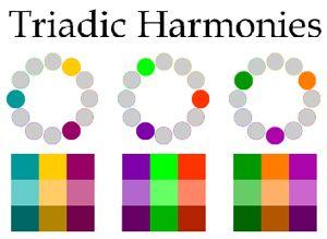 Triadic color scheme examples
