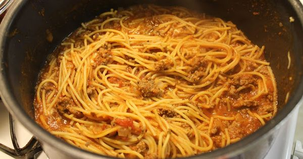 One Pot Spaghetti - with Chicken Broth spaghetti pasta dinner