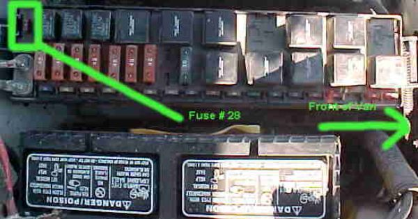 dodge caravan iod fuse location 551 290. Black Bedroom Furniture Sets. Home Design Ideas