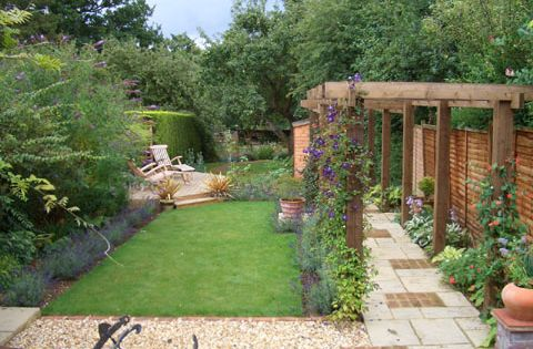 Andrew Coates Garden Design Long Narrow Garden Garden Fencing