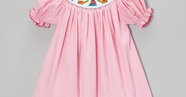 This pink party hats corduroy dress amp clip infant toddler amp girls