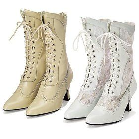 Victorian Leather \u0026 Lace Wedding Boots