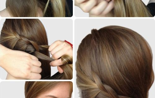 Braided side ponytail tutorial- such cute and easy hairstyles!