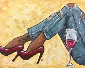 Wine Design Durham Nc Paint Sip Wine Painting Parties Black Art Painting Black Girl Art Black Women Art