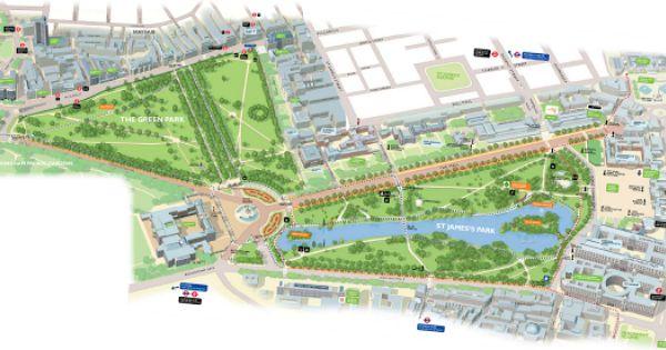 St James S Park And Green Park Nicholas L Garvery Green Park St James Park Open Street Map