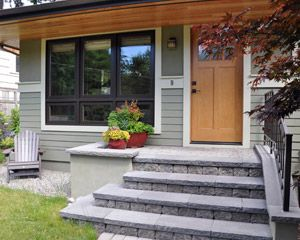 Home Entry Remodels Ventana Construction Seattle Washington Wood Siding Exterior Exterior House Remodel Exterior Remodel
