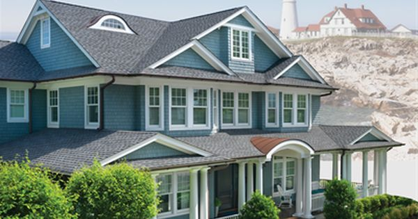 Gaf Timberline Ultra Hd Pewter Gray House In 2020 Nantucket Style Homes Architectural Shingles Shingling