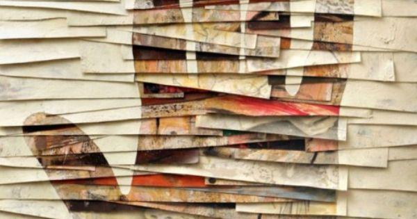 Umberto Manzo untitled mixed media collage - Olio, grafite, cera, emulsione fotografica