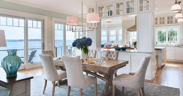 Dining Room. Coastal home dining room with Restoration ...