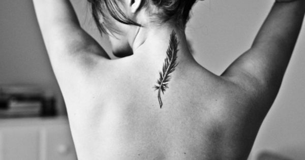 Feather tattoo. Placement. FeatherTattoo Tattoo Ink
